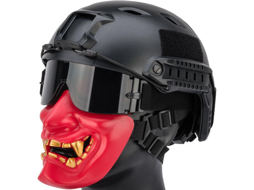 "Matrix ""Oni"" Half Mask (Color: Red)"