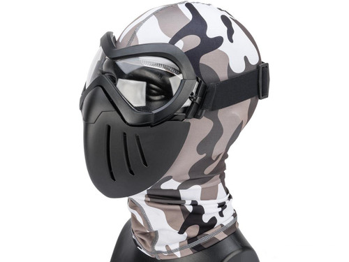 "6mmProShop ""Slipstream"" Face Mask (Color: Black Frame / Clear Lens)"