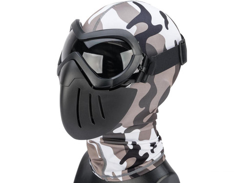 "6mmProShop ""Slipstream"" Face Mask (Color: Black Frame / Smoke Lens)"