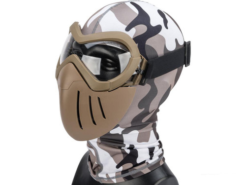 "6mmProShop ""Slipstream"" Face Mask (Color: Tan Frame / Clear Lens)"
