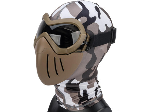 "6mmProShop ""Slipstream"" Face Mask (Color: Tan Frame / Smoke Lens)"