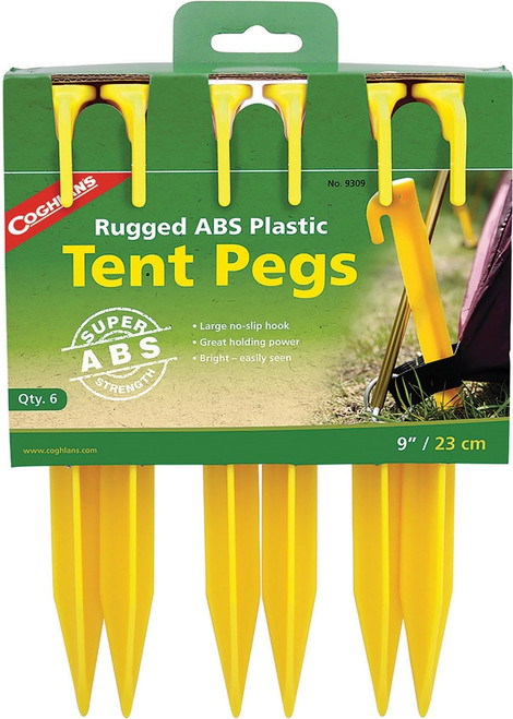 Tent Pegs ABS 9in 6pk