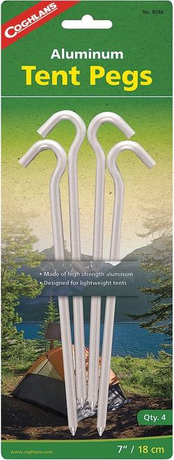 Aluminum Tent Pegs 4pk
