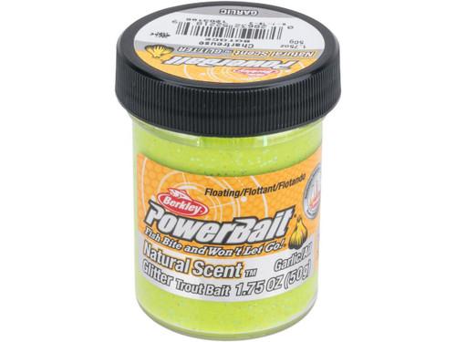 Berkley PowerBait Trout Bait (Type: Glitter / Garlic Scent / Chartreuse)