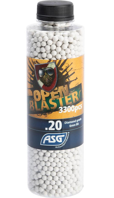 ASG Open Blaster 6mm Biodegradable Airsoft BBs (Weight: 0.20g / 3300 Rounds)