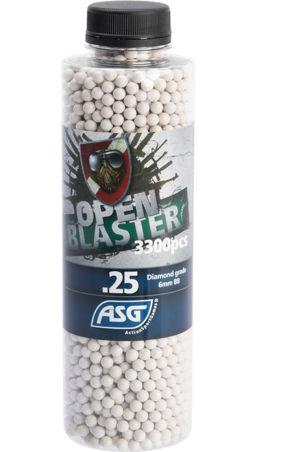 ASG Open Blaster 6mm Biodegradable Airsoft BBs (Weight: 0.25g / 3300 Rounds)
