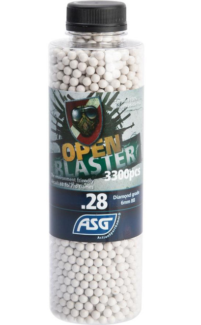 ASG Open Blaster 6mm Biodegradable Airsoft BBs (Weight: 0.28g / 3300 Rounds)