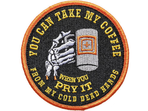 """5.11 Tactical """"Cold Dead Caffeine"""" Hook & Loop Embroidered Morale Patch"""