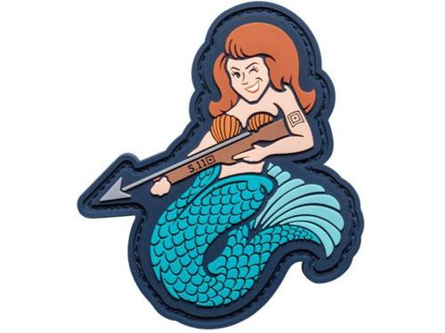 """5.11 Tactical """"Mermaid Sniper"""" Hook & Loop PVC Morale Patch"""
