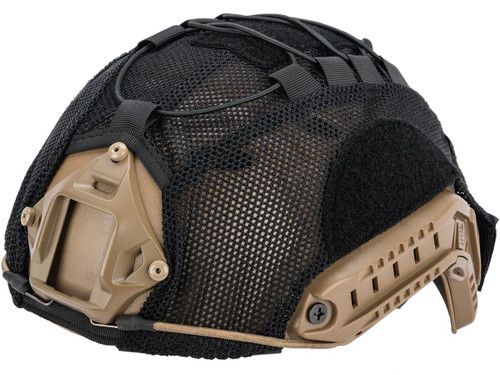Matrix Bump Type Mesh Helmet Cover w/ Elastic Cord (Color: Black / Large)