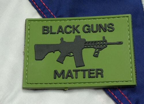 Black Guns Matter Green PVC - Morale Patch