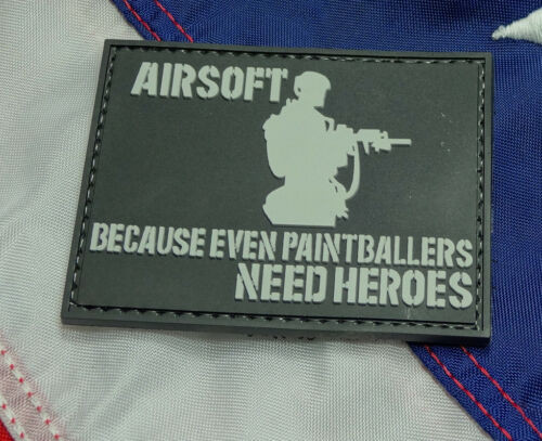Because Even Paintballers Need Heroes PVC - Morale Patch