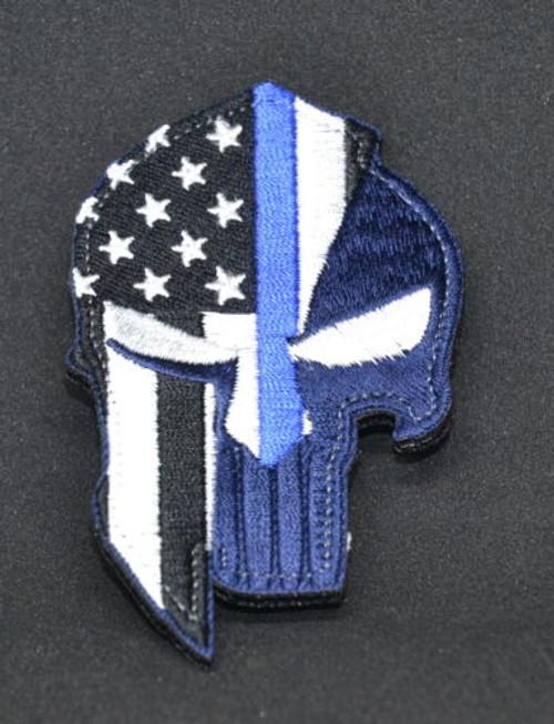 Punisher Spartan Helmet USA Flag - Morale Patch