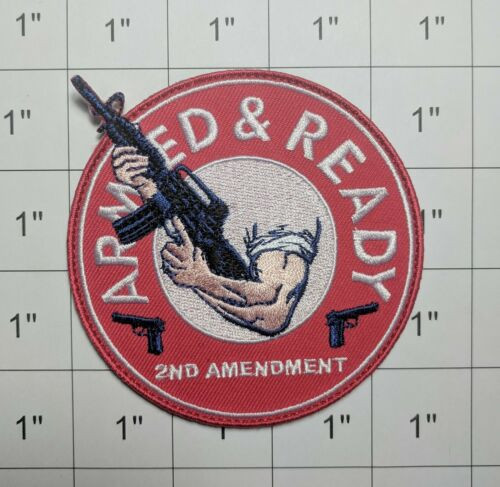 Armed And Ready Patch 2nd Amendment - Morale Patch