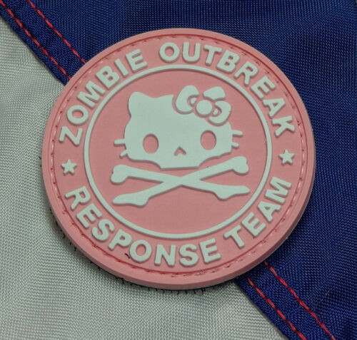 Pink Hello Kitty Zombie Outbreak PVC - Morale Patch