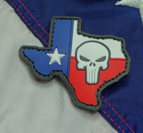 Texas Flag Punisher PVC - Morale Patch