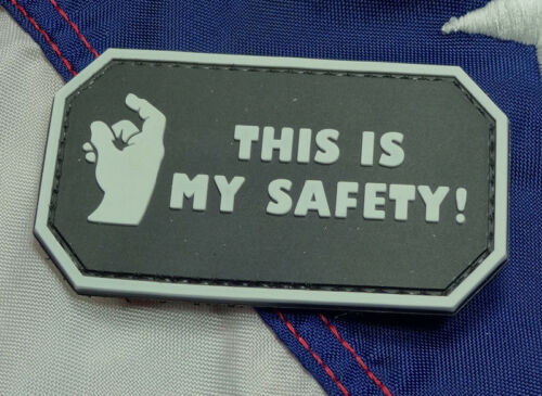 This Is My Safety Black - Morale Patch