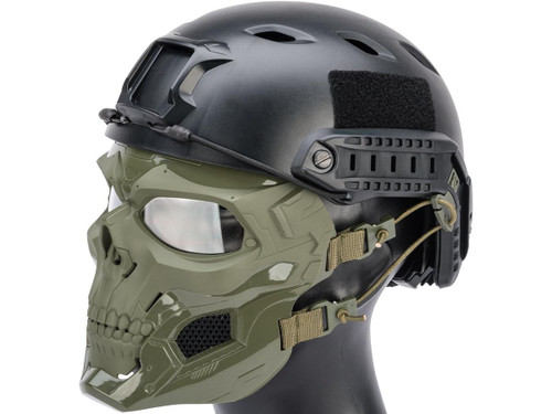 Matrix Skull Messenger Face Mask (Color: OD Green)