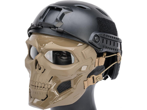 Matrix Skull Messenger Face Mask (Color: Tan)