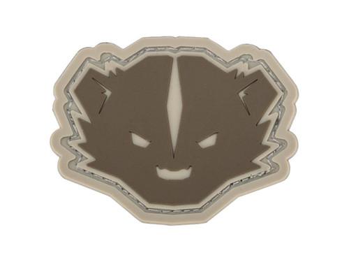 "Mil-Spec Monkey ""Kit Badger"" Logo PVC Morale Patch (Color: Arid)"