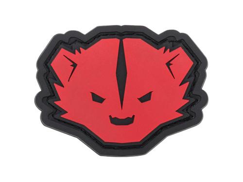 """Mil-Spec Monkey """"Kit Badger"""" Logo PVC Morale Patch (Color: Red & Black)"""