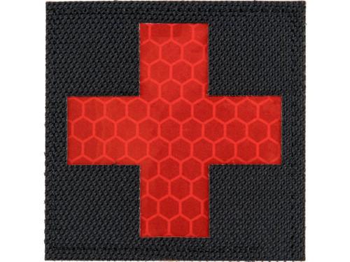 Matrix Reflective Medic Patch w/ Nylon Bordering (Color: Black / Red)