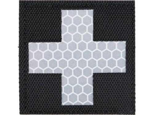Matrix Reflective Medic Patch w/ Nylon Bordering (Color: Black / White)