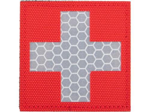 Matrix Reflective Medic Patch w/ Nylon Bordering (Color: Red / White)