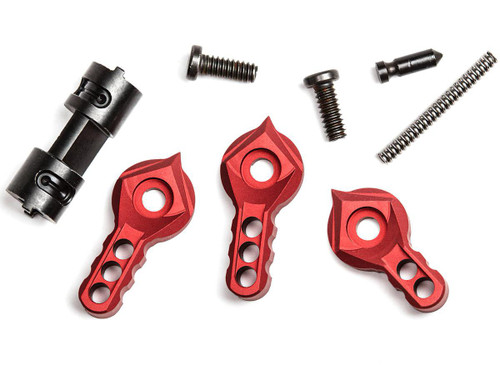 F-1 Firearms Ambidextrous Safety Selector Kit (Color: Red)