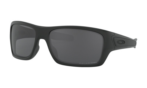 Oakley Turbine Polarized Sunglasses- Matte Black with Grey Lenses