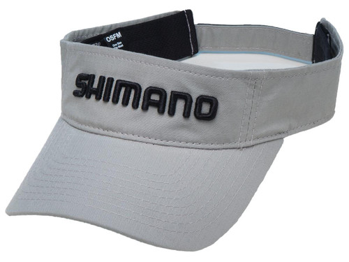 Shimano Adjustable One Size Fits Most Ripstop Visor (Color: Gray)
