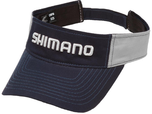 Shimano Adjustable One Size Fits Most Ripstop Visor (Color: Navy Blue / Gray)