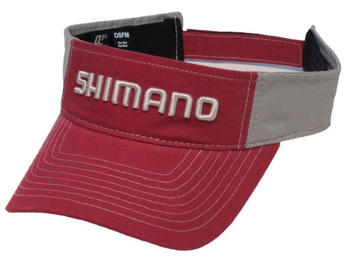 Shimano Adjustable One Size Fits Most Ripstop Visor (Color: Red)