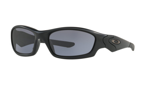 Oakley Men's Straight Jacket Sunglasses - Matte Black w/ Grey Polarized