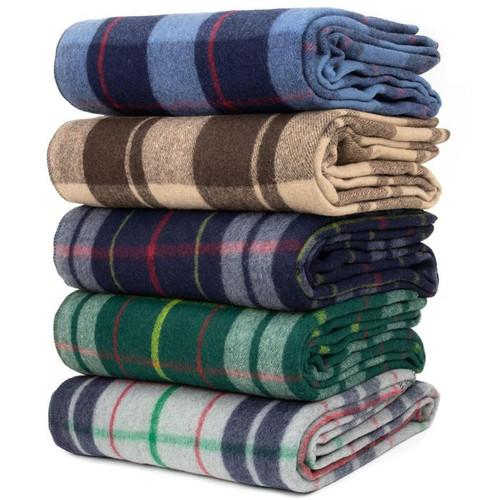 Classic Wool Plaid Blanket