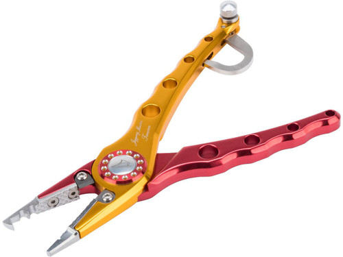 Jigging Master Elite Fishing Large Plier w/ Integrated Hand Gaff (Color: Red / Gold)