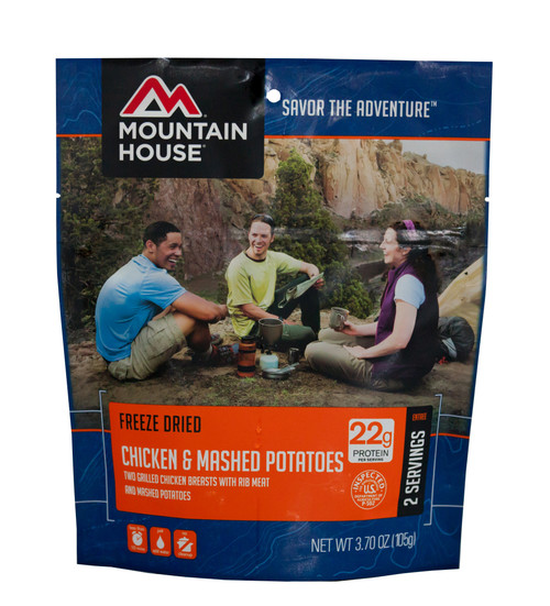 Mountain House Freeze Dried Camping Food - Chicken Breast and Mashed Potatoes