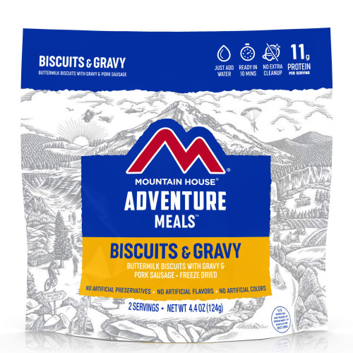 Mountain House Freeze Dried Camping Food - Biscuits and Gravy