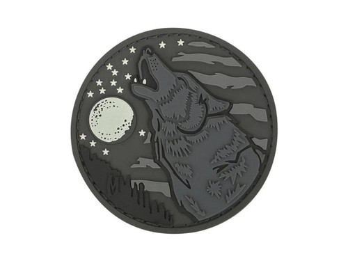 """Maxpedition """"Wolf"""" PVC Morale Patch (Color: Glow in the Dark)"""