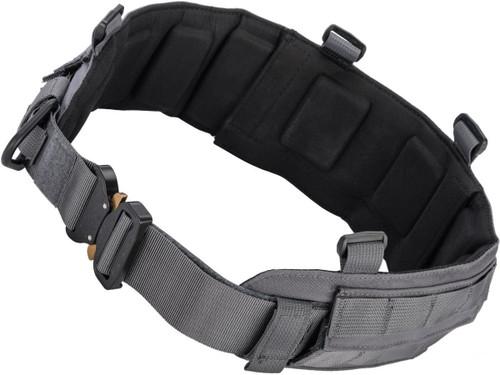 Emersongear Blue Label Padded Battle Belt w/ AustriAlpin COBRA Buckle (Color: Wolf Grey / Medium)