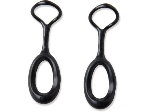 Gear Aid Ergo Zipper Pulls Kit (Color: Black)