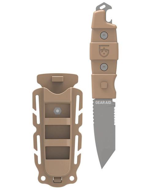 Gear Aid Kotu Tanto Survival Knife (Color: Coyote)