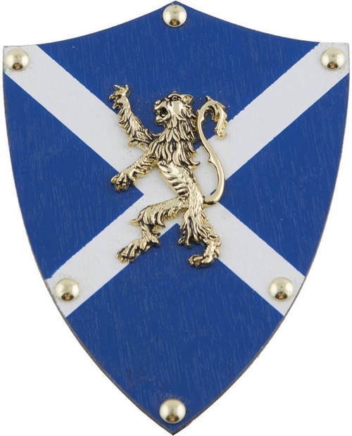 White and Blue Lion Crest