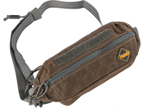 MagForce City Traveler Waistpack Small (Color: Brown / Waxed Canvas)