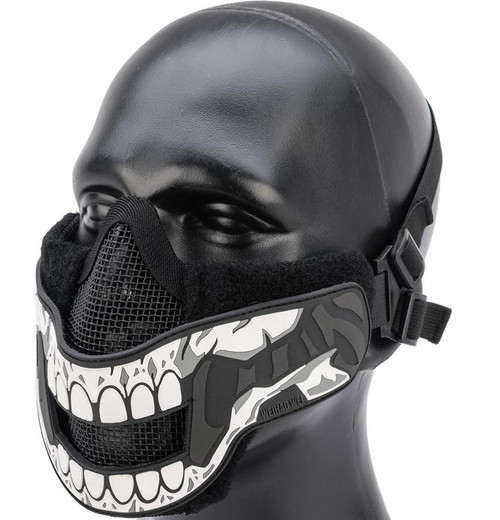 "OneTigris ""Face Off"" Foldable Mesh Half-Face Mask (Type: Skull)"
