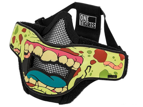 "OneTigris ""Face Off"" Foldable Mesh Half-Face Mask (Type: Zombie / Sinister)"
