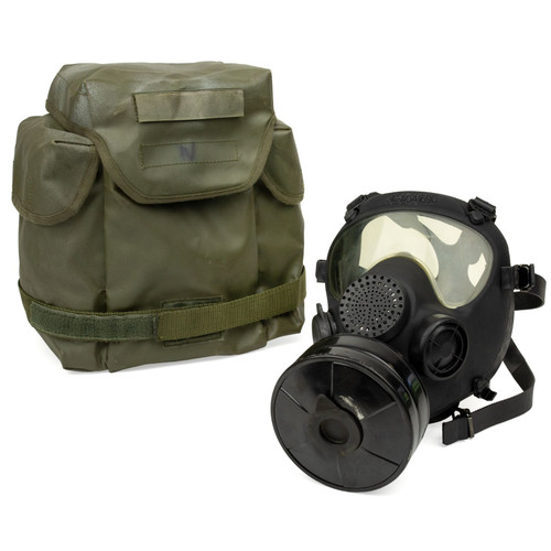 NATO Gas Mask MP5 w/Transport Bag - As Is No Filter!