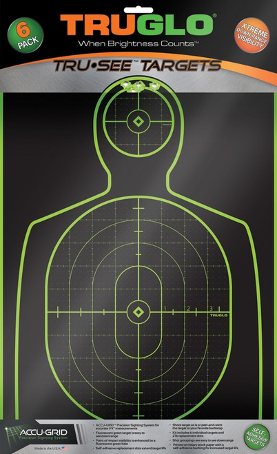 Tru-See Handgun Target 6pk