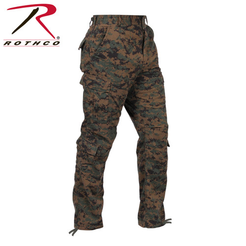 Rothco BDU Pants - Woodland Digital  Camo