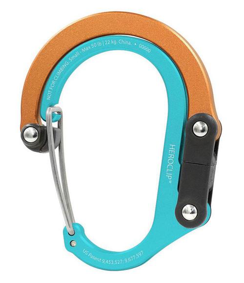 Heroclip Adjustable Swivel Carabiner Clip + Hanger (Size: Small / Solar Flare)
